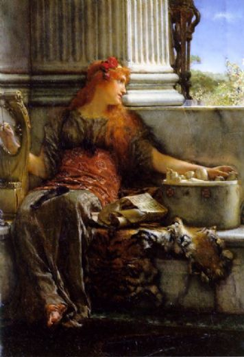 sir lawrence alma-tademasir lawrence alma tadema poetry Painting-81656