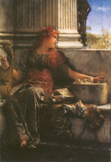 sir lawrence alma tadema poetry paintings