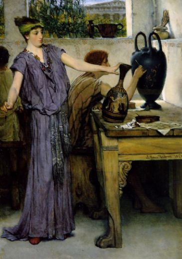 sir lawrence alma-tadema sir lawrence alma tadema pottery painting