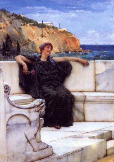 sir lawrence alma-tadema sir lawrence alma tadema resting painting