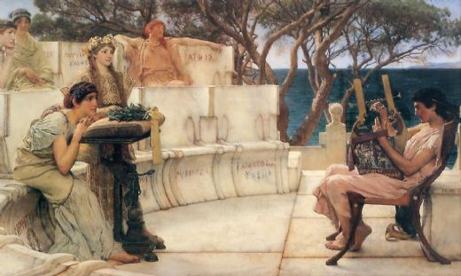 sir lawrence alma-tadema sir lawrence alma tadema sappho and alcaeus paintings