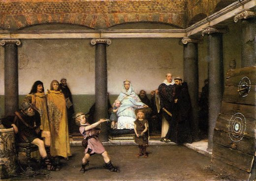 sir lawrence alma tadema the education of the children of clovis painting