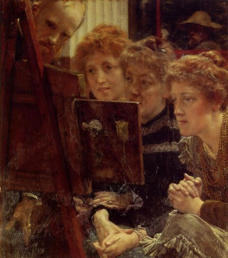 sir lawrence alma tadema the family group oil painting