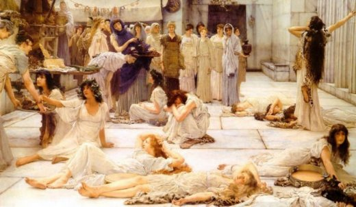 sir lawrence alma tadema the women of amphissa paintings