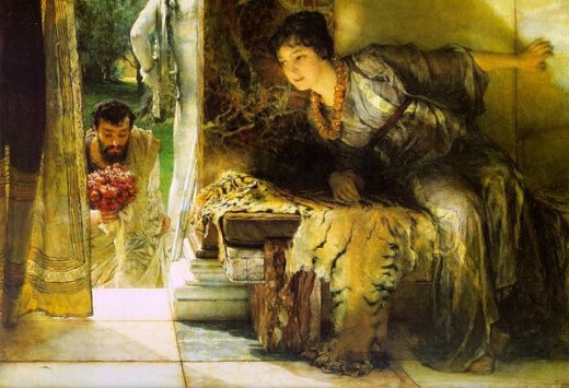 sir lawrence alma tadema welcome footsteps paintings