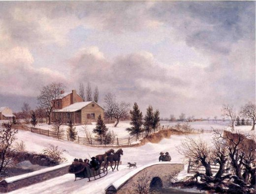 A Winter Scene In Holland Painting by Andries Vermeulen | Oil Painting