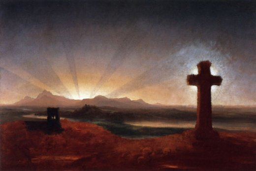 thomas cole cross at sunset painting
