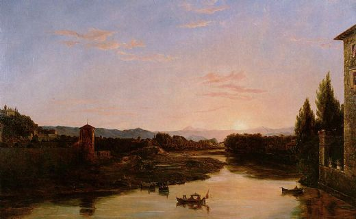 thomas cole sunset of the arno paintings