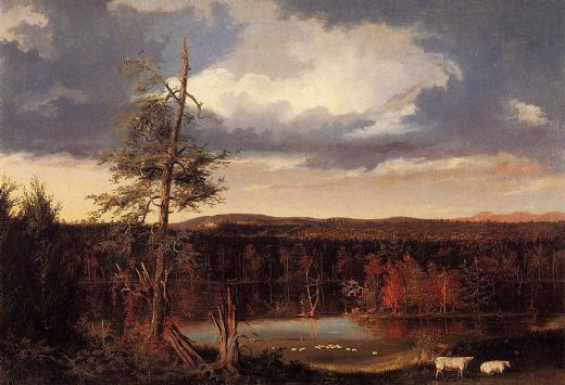 thomas cole the seat of mr. featherstonhaugh in the distance painting