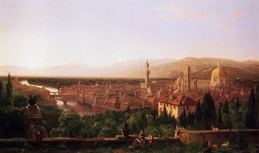 thomas cole view of florence from san miniato painting