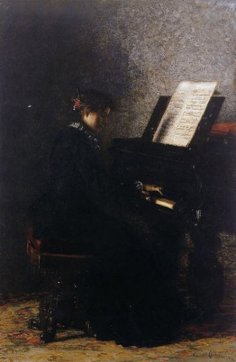 thomas eakins elizabeth at the piano paintings