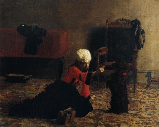 thomas eakins elizabeth crowell with a dog paintings