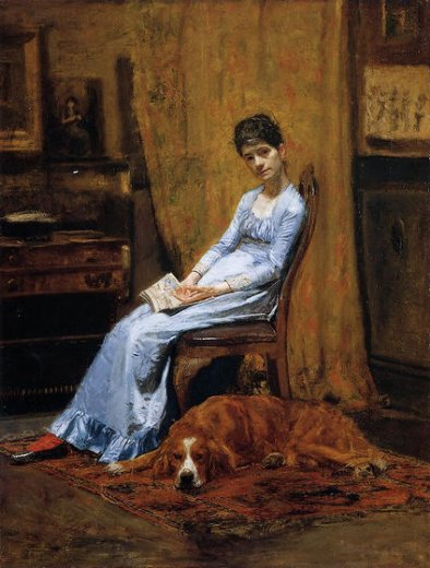 thomas eakins the artist s wife and his setter dog paintings