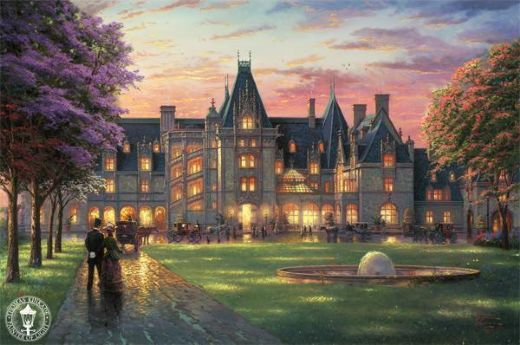 thomas kinkade elegant evening painting