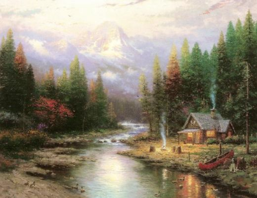thomas kinkade end of a perfect day ii paintings