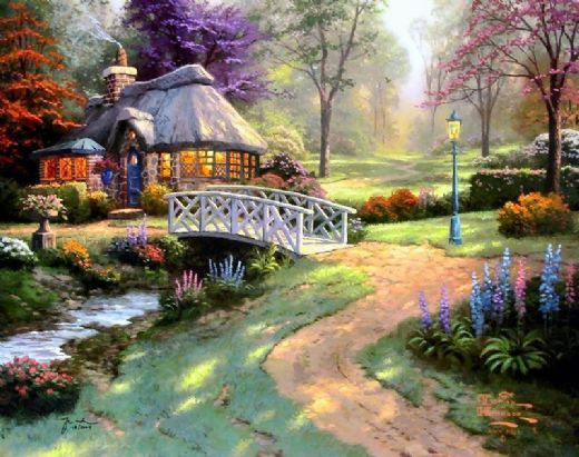 thomas kinkade friendship cottage paintings