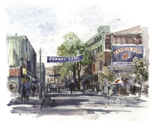 thomas kinkade yawkey way paintings