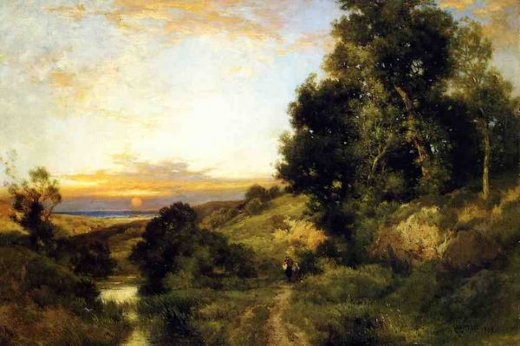thomas moran a late afternoon in summer painting