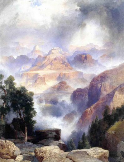 thomas moran a showery day grand canyon painting