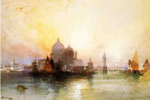 thomas moran a view of venice painting
