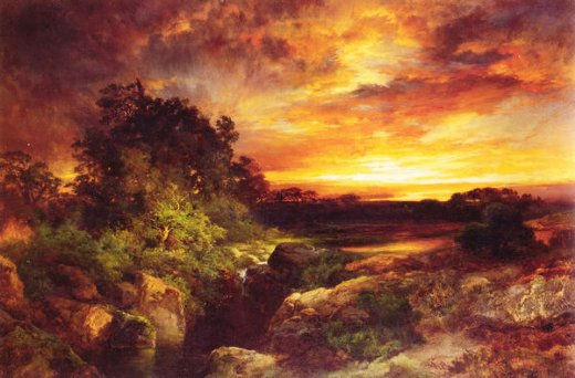 thomas moran an arizona sunset near the grand canyon paintings