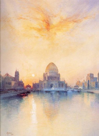 thomas moran chicago world s fair painting