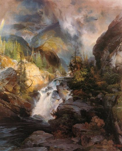 thomas moran children of the mountain paintings