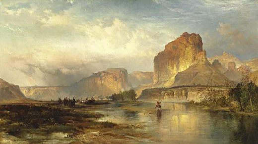 thomas moran cliffs of green river oil painting