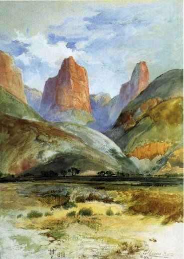 thomas moran colburn s butte south utah painting