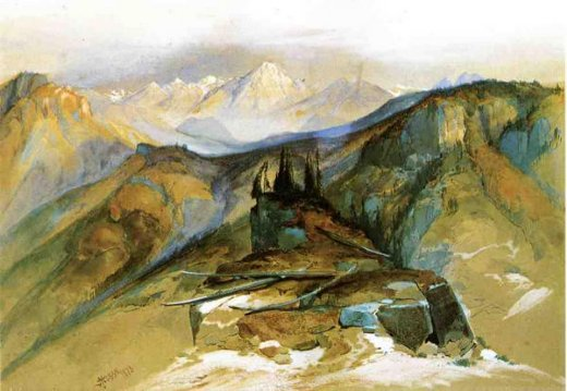 thomas moran distant peaks paintings