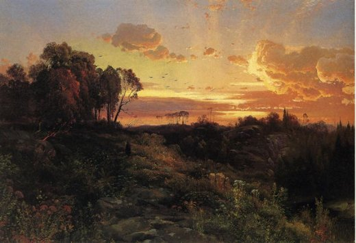 thomas moran dusk wings painting