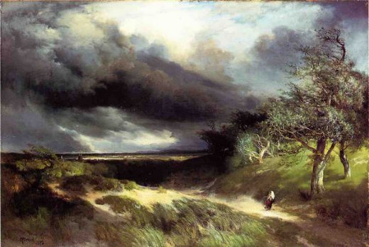 thomas moran east hampton long island sand painting