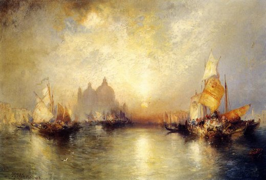 thomas moran entrance to the grand canal venice ii painting