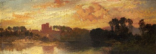 thomas moran environs of salt lake utah painting