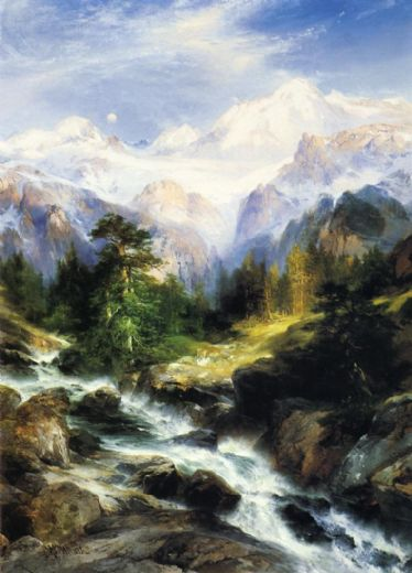 thomas moran in the teton range posters