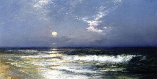 thomas moran moonlit seascape i paintings