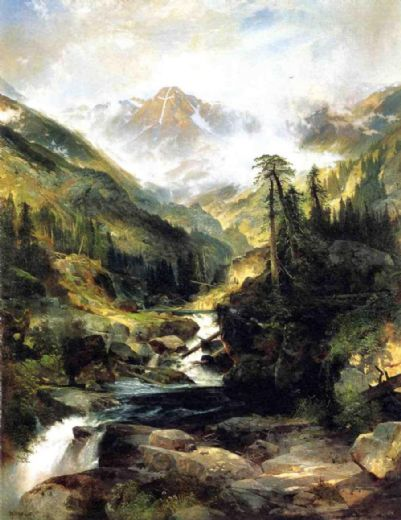 thomas moran mountain of the holy cross paintings