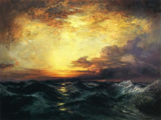 thomas moran pacific sunset paintings