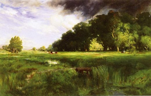 thomas moran summer squall paintings