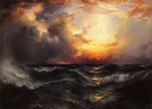thomas moran sunset in mid painting