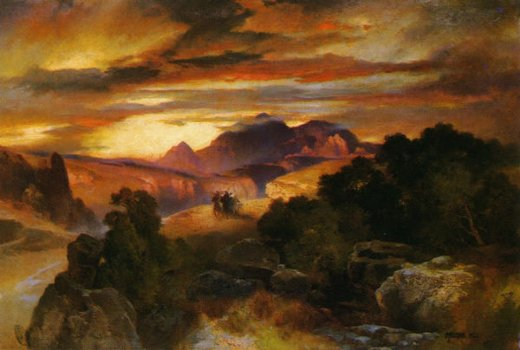 thomas moran sunset painting