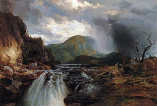 thomas moran the wilds of lake superior painting