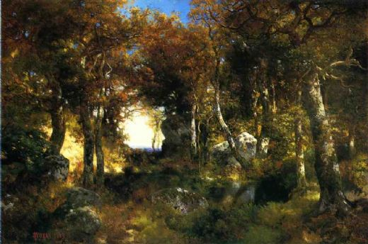 thomas moran the woodland pool paintings