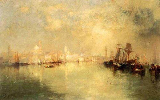 thomas moran venice reminiscence of vera cruz mexico paintings