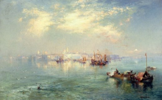 thomas moran vera cruz harbor mexico painting
