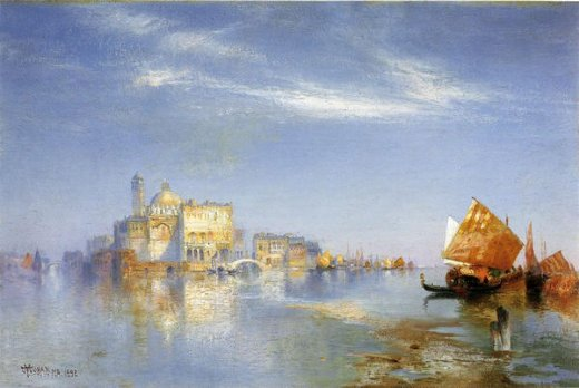 thomas moran view of venice painting