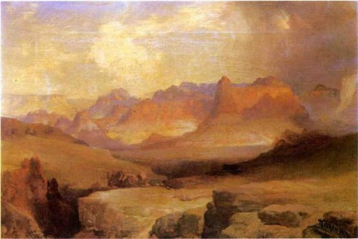 thomas moran view of yosemite painting