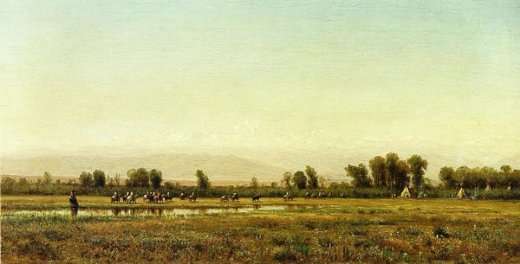 thomas worthington whittredge indian reservation paintings