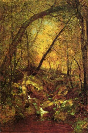 thomas worthington whittredge sunshine on the brook oil painting