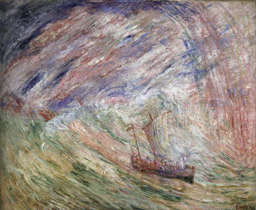 unknown artist James Ensor Christ Calming the Storm paintings